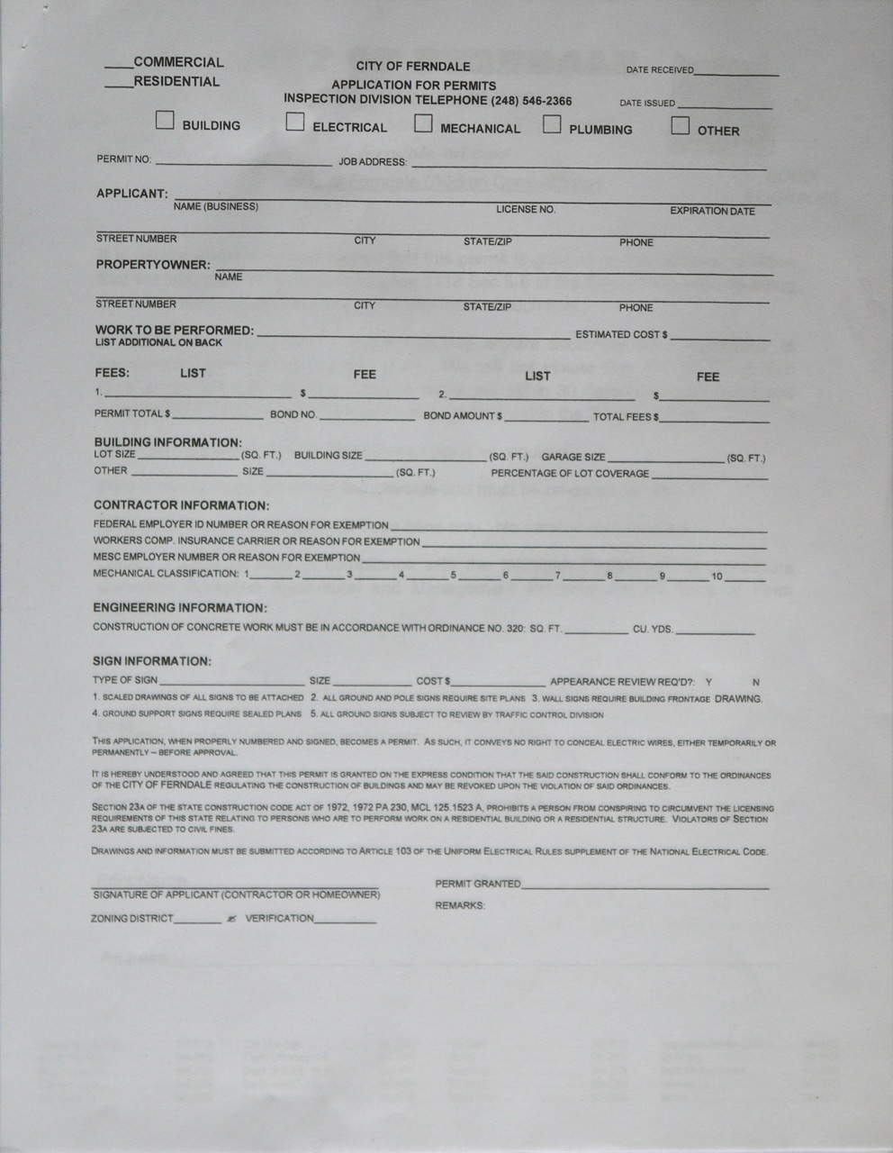 ferndale chicken coop paperwork  where to get it  how to